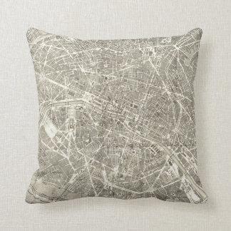 Antique Map of Paris | Vintage Decor Cushion