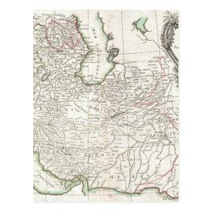 Antique Map of Persia- Iran, Afghanistan, & Iraq Postcard