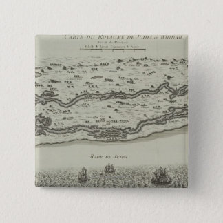 Antique Map of Persian Gulf 15 Cm Square Badge