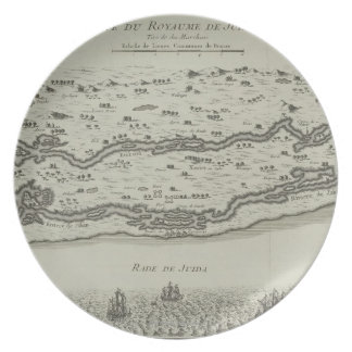 Antique Map of Persian Gulf Plate
