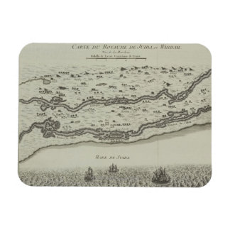 Antique Map of Persian Gulf Rectangular Photo Magnet