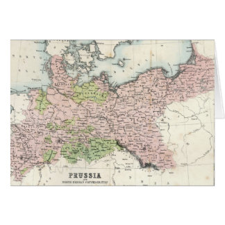 Antique Map of Prussia Card
