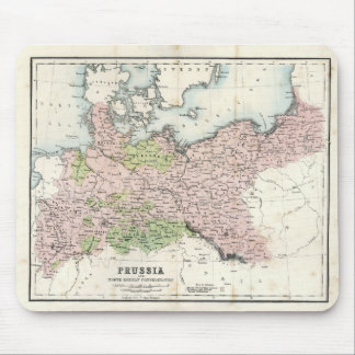 Antique Map of Prussia Mouse Mat