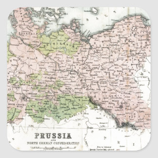 Antique Map of Prussia Square Sticker