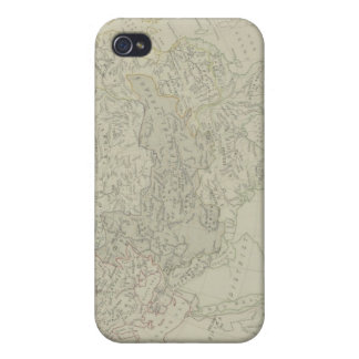 Antique Map of River Systems Cover For iPhone 4