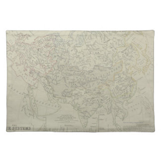 Antique Map of River Systems Placemat