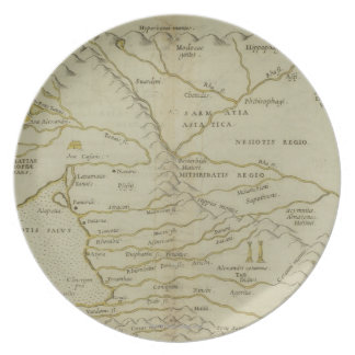 Antique Map of Russia Dinner Plates