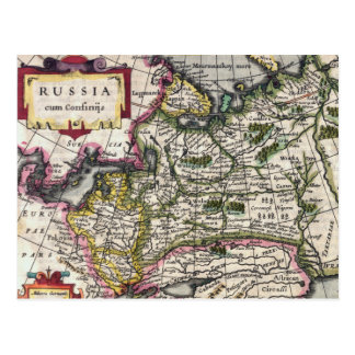 Antique Map of Russia Postcards - Peter Kaerius