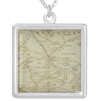 Antique Map of Russia Silver Plated Necklace
