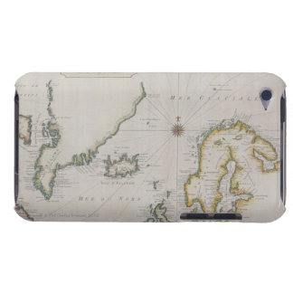 Antique Map of Scandinavia 2 Barely There iPod Cases