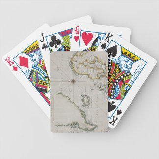 Antique Map of Scandinavia 2 Bicycle Playing Cards