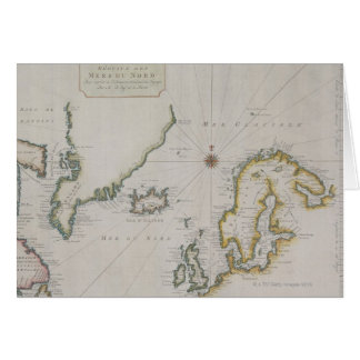 Antique Map of Scandinavia 2 Card