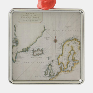 Antique Map of Scandinavia 2 Christmas Ornament
