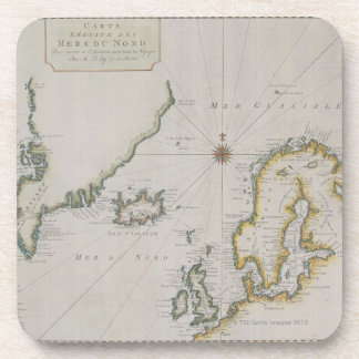 Antique Map of Scandinavia 2 Coaster