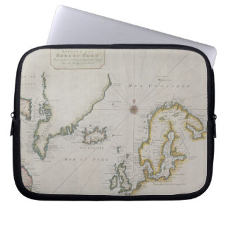 Antique Map of Scandinavia 2 Computer Sleeves