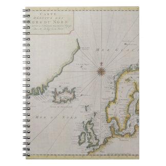 Antique Map of Scandinavia 2 Notebook