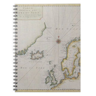 Antique Map of Scandinavia 2 Notebooks