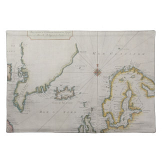 Antique Map of Scandinavia 2 Placemat