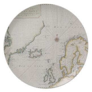 Antique Map of Scandinavia 2 Plate