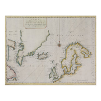 Antique Map of Scandinavia 2 Postcard