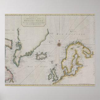 Antique Map of Scandinavia 2 Poster