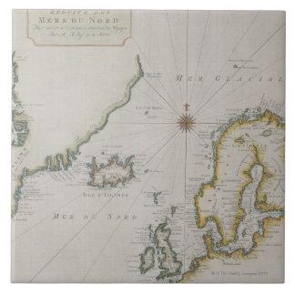 Antique Map of Scandinavia 2 Tile