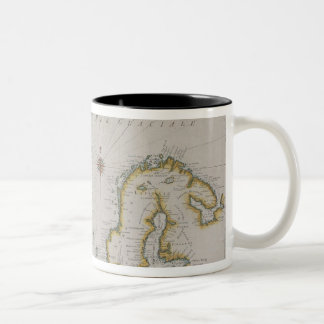 Antique Map of Scandinavia 2 Two-Tone Coffee Mug