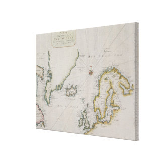 Antique Map of Scandinavia Canvas Print