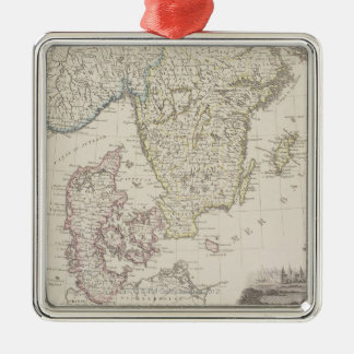 Antique Map of Scandinavia Christmas Ornament