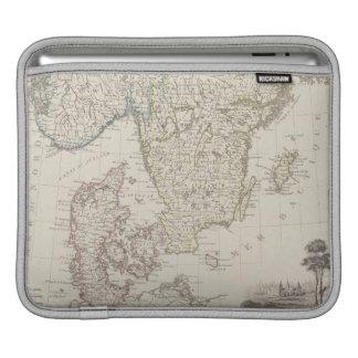 Antique Map of Scandinavia iPad Sleeve