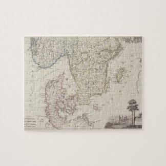 Antique Map of Scandinavia Jigsaw Puzzle