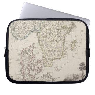 Antique Map of Scandinavia Laptop Sleeve