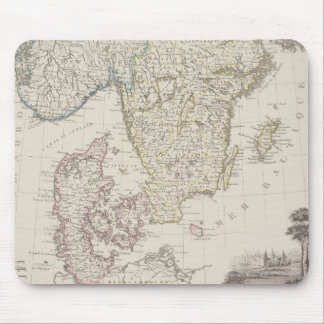 Antique Map of Scandinavia Mouse Mat