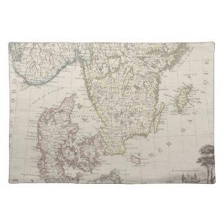 Antique Map of Scandinavia Placemat