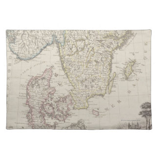 Antique Map of Scandinavia Placemats