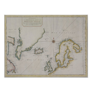 Antique Map of Scandinavia Poster
