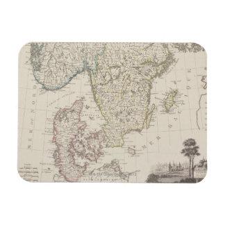 Antique Map of Scandinavia Flexible Magnet
