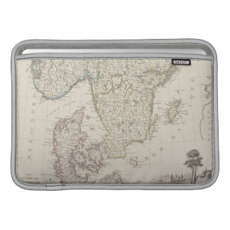 Antique Map of Scandinavia Sleeve For MacBook Air