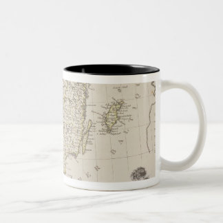Antique Map of Scandinavia Two-Tone Coffee Mug