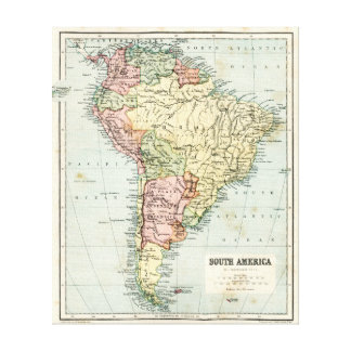 Antique map of South America Canvas Print