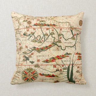Antique Map of South America Cushion