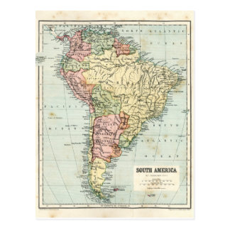 Antique map of South America Postcard