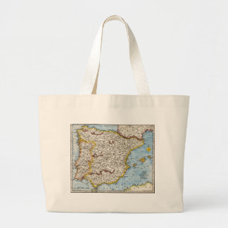 Antique Map of Spain Portugal circa 1700 s Tote Bag