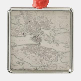 Antique Map of Stockholm, Sweden Christmas Ornament