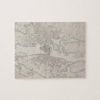 Antique Map of Stockholm, Sweden Jigsaw Puzzle