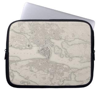 Antique Map of Stockholm, Sweden Laptop Sleeve