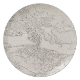 Antique Map of Stockholm, Sweden Plate