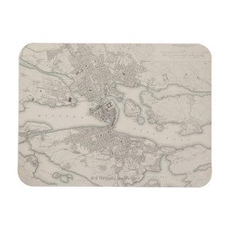 Antique Map of Stockholm, Sweden Rectangle Magnets
