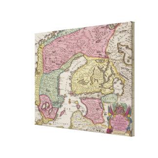 Antique Map of Sweden 2 Canvas Print