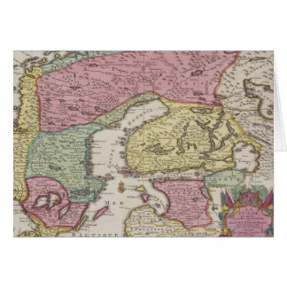 Antique Map of Sweden 2 Card
